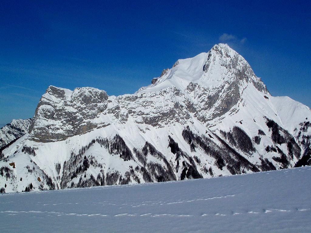 Nature Scenery Paysage De Montagne En Hiver En Fond D Ecran